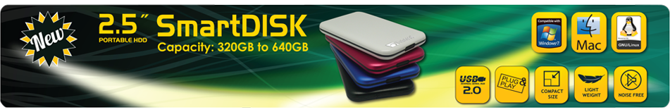 TwinMOS launched High-Speed Portable HDD- SmartDISK