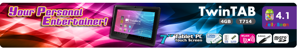 TwinMOS launched Jelly Bean 4.1 Android Tablet- TwinTAB-T714