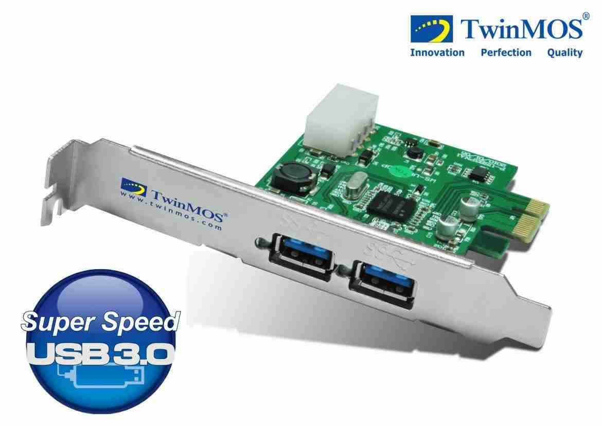 Lift your barrier, Enjoy SuperSpeed by Upgrading Your Desktop PC to USB 3.0 with TwinMOS PCI-E Add-In Card: